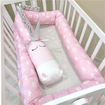 2M/3M Baby Bed Bumper Unicorn Dalmatians Zebra Infant Pillow Cushion Newborn Crib Protector,Nursery Bedding,Cot Room Decor