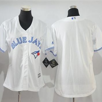 Women's Toronto Blue Jays Blank Cool Base Player Jersey