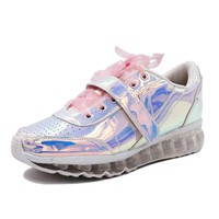 Pink Bow Holographic Sneakers