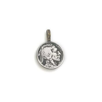 Buffalo Nickel Old USA 5 Cent Coin Pendant Necklace