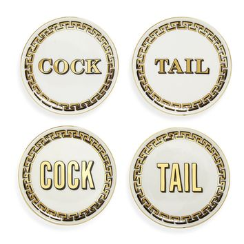 Cock/Tail Coasters (Set of 4)