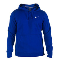 NIKE CLUB SWOOSH PULLOVER HOODIE - Royal - NIKE CLOTHING