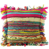 "16"" COLORFUL CHINDI PILLOW CUSHION COVER THROW ECLECTIC Yoga Ethnic Decorative"