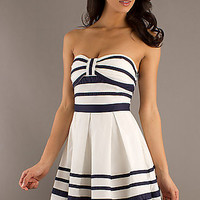 Strapless Casual Dress