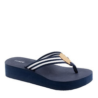 Stripe wedge flip-flops - flip-flops - Women's shoes - J.Crew