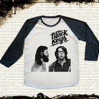 Size L -- THE BLACK KEYS T Shirts Indie Rock T Shirts Baseball Tee Jersey Raglan Long Sleeve Unisex Shirts Women Shirts