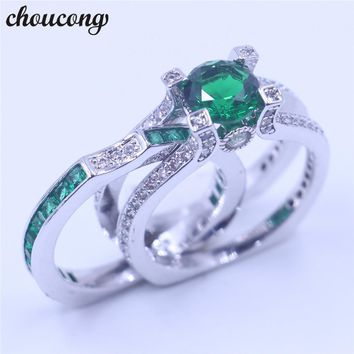 choucong 12 colors Birthstone women Wedding Bridal sets ring 5A zircon cz White Gold Filled Band Rings for women men new jewelry