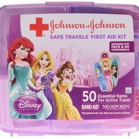 Johnson & Johnson Red Cross Brand Safe Travels First Aid Kit Featuring Disney Princess