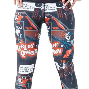 Harley Quinn Capris Red/Black