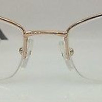 NEW AUTHENTIC FENDI F842 COL 770 GOLD METAL SEMI RIM EYEGLASSES FRAME 51MM S