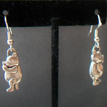 Winnie The Pooh Dangle Earrings Disney Bear Charm Jewelry Fashion Accessories For Her