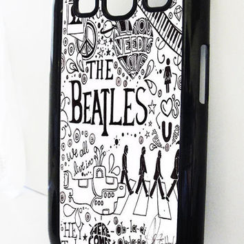 Samsung Galaxy S3 case Beatles Black and White