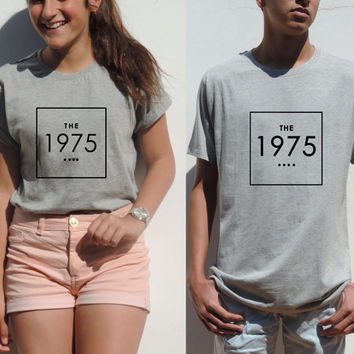 The 1975 shirt in black, white and gray t shirt Unisex indie rock matt healy Hipster clothes the 1975 tee band Top