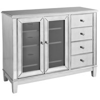 Hayworth Mirrored TV Stand - Silver