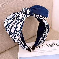 Dior Fashion Women Cute Bowknot Headwrap Headband Head Hair Band Blue