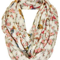 Oriental Bird Print Snood - New In This Week  - New In