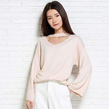 MY MALL METRO  Womens Cashmere Sweaters Womens V-neck Pullovers Solid Casual  Check Homepage for Promo Codes! <