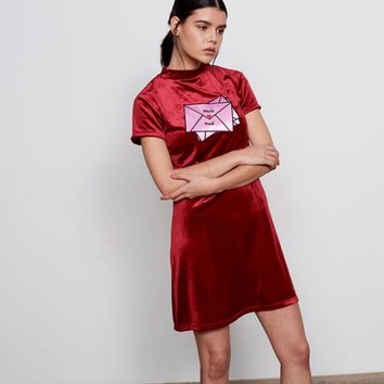 Lazy Oaf Red Hate Mail Dress - Everything - Categories - Womens