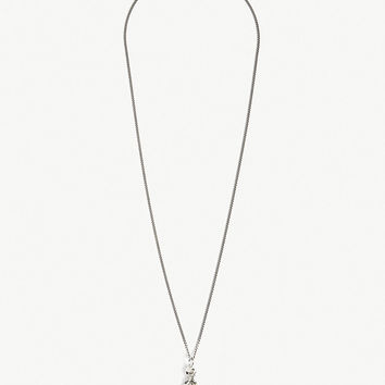 EMANUELE BICOCCHI Skull and feather necklace
