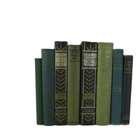 Green and Black Decorative Display of Books, S/8