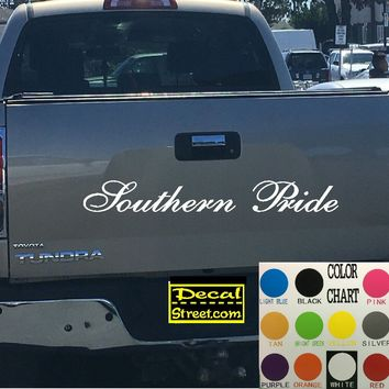 Southern Pride Tailgate Decal Sticker 4x4 Diesel Truck SUV