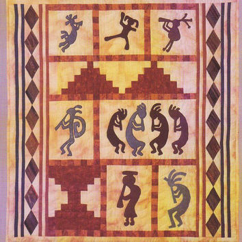 Mischief Maker Kokopelli 35 x 38 inch quilt pattern Southwest Series by the Country Quilter designed by Linda Oehler Marx UNOPENED