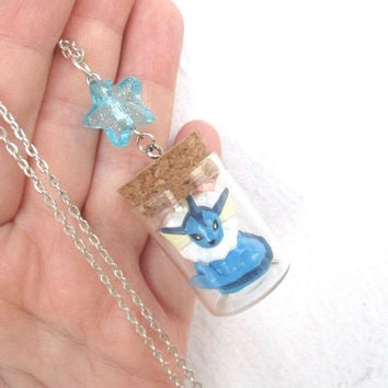 Pokémon Necklace - VAPOREON - Toy in a Bottle - Gamer Gear