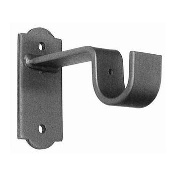 ONA Drapery Vertical Deco Base Wrought Iron Curtain Rod Bracket