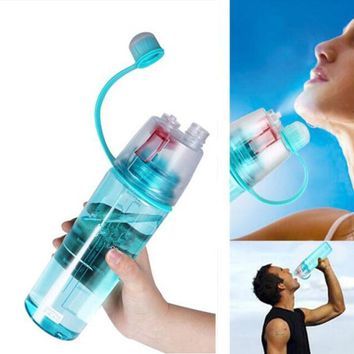Creative Spray Sport Water Bottle Cycling Fruit Juice Bicycle Portable Kettle Shaker My Water Bottle 400ml/600ml