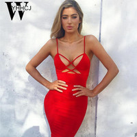 WYHHCJ 2017 sexy lace up women summer dress backless sleeveless club party dresses bodycon pencil blue women dress vestidos