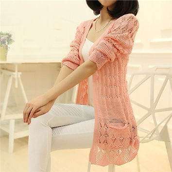 2014 women fashion  Cardigan heart Long Sleeve Sweater femininas Cardigans women's coats = 1920348356