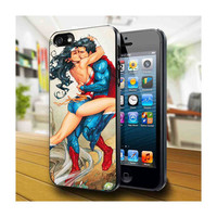 Case iphone 4 and 5 for superman love wonder woman