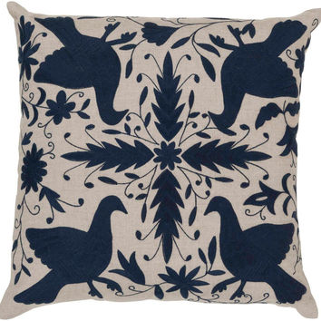 Beth Lacefield Otomi Delicate Doves Decorative Pillow - Home Decor | Surya