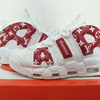 Lv X Supreme X Air More Uptempo Sneaker Shoe Size 40 47   Best Deal Online