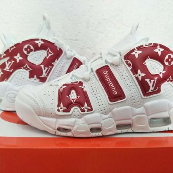 Lv X Supreme X Air More Uptempo Sneaker Shoe Size 40 47 | Best Deal Online
