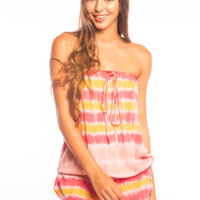 Tiare Hawaii Lulu Romper Red/Yellow/Pink