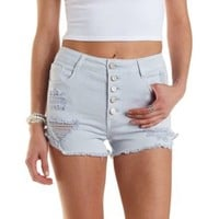 "Refuge ""Hi-Rise Cheeky"" Cut-Off Denim Shorts"