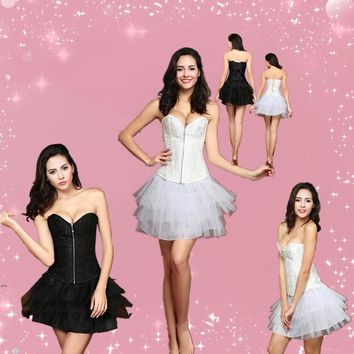 Sexy Slim Wedding Corset gothic dress corset Gird Body vest Zipper Waist Slimming Clothes Abdomen Waist Train Corsets