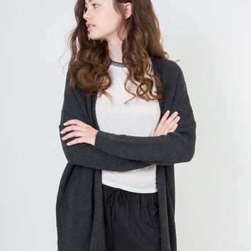 Lucia Knit Charcoal Cardigan