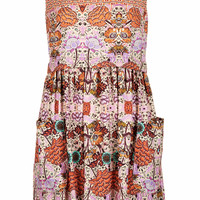 FOLKLORE PRINTED SHIFT DRESS