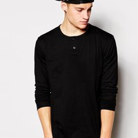 Brooklyn Supply Co Long Sleeve Henley Raw Edge