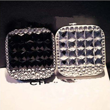 New Handmade Full Crystal Travelling Contact lenses boxes for present