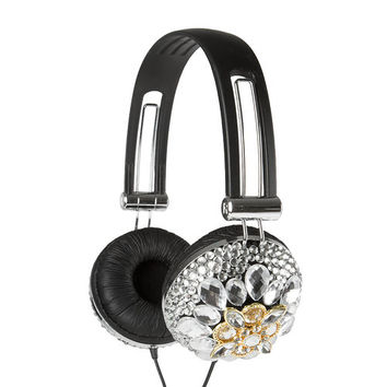 Crystal Art Deco Bling Headphones