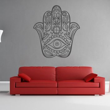 ik904 Wall Decal Sticker hamsa hand protective amulet bedroom