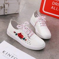 Comfort Embroidery Rose Summer Sneakers [11686937999]
