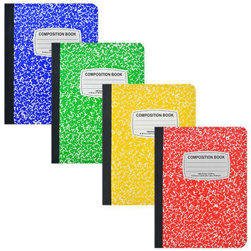 Bulk Colorful Classic Composition Notebooks, 100 Sheets at DollarTree.com