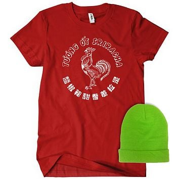 Sriracha Costume /w Hat T-Shirt