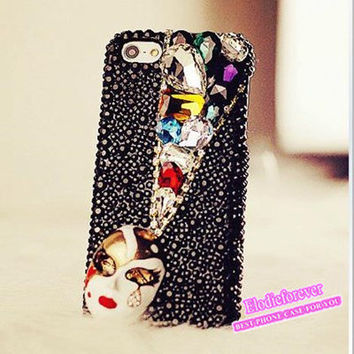 Designer iPhone case, Swarovski Crystal case for iPhone,iPhone 4 case, Bling Bling iPhone 4S case,Cute iPhone 5 Case. iPhone cover A90