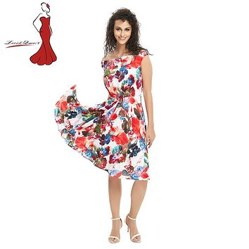 Deviz Queen Boho style dress women Off shoulder beach summer dresses Floral print dress vestidos de festa