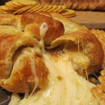 Baked Brie In Puff Pastry With Apricot Or Raspberry Preserves Recipe - Food.com - 48907